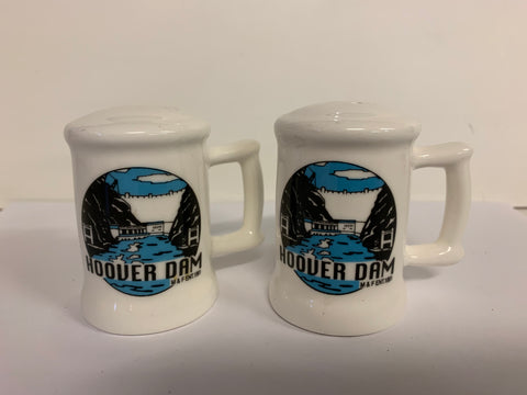 Vintage 1991 M & F Enterprises Souvenir Hoover Dam Salt and Pepper Shaker Set
