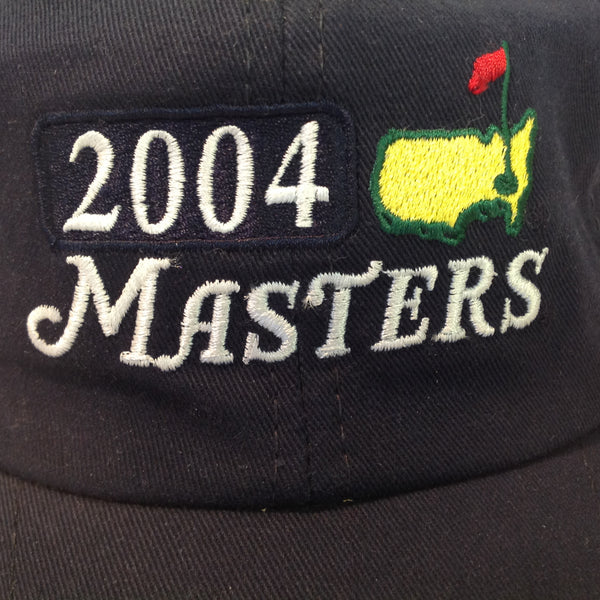 Vintage American Needle 2004 Masters Golf Tournament Souvenir Navy Blue Baseball Cap