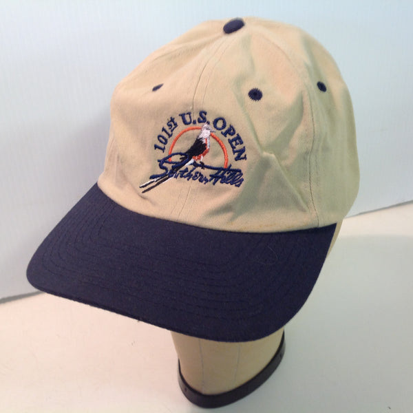 Vintage USGA Southern Hills Golf Course USGA Member 101st US Open Golf Tournament Souvenir Tan Baseball Cap
