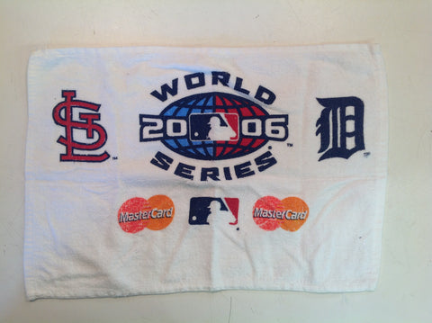Vintage 2006 World Series St Louis Detroit Mastercard Souvenir Washcloth