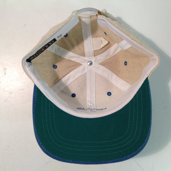 Vintage Duckster Fountain Hills Golf Club Alsip Illinois Souvenir Beige and Denim Blue Baseball Cap