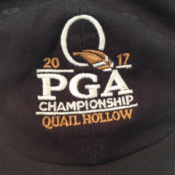 Authentic Ahead Vintage Classic Cut 2017 PGA Championship Quail Hollow Golf Club Charlotte North Carolina Tournament Souvenir Black Baseball Cap