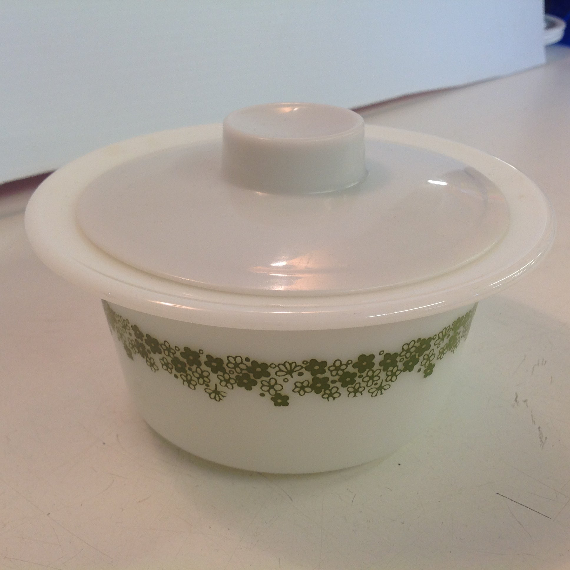 Vintage Corelle Pyrex Spring Blossom Crazy Daisy Pattern Covered Sugar Bowl