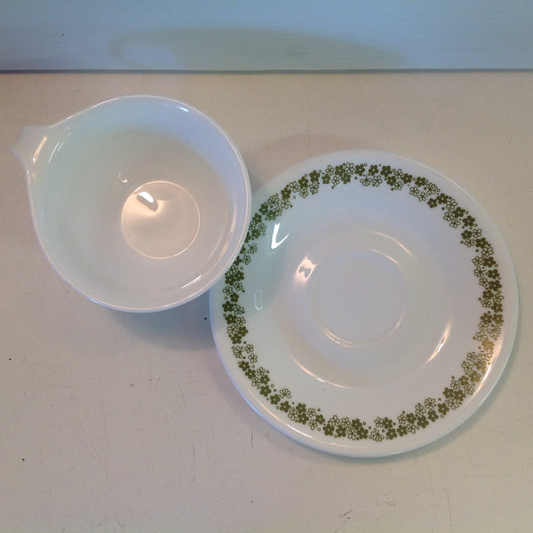 Vintage Corelle Pyrex Spring Blossom Crazy Daisy Patterned Cup And Saucer