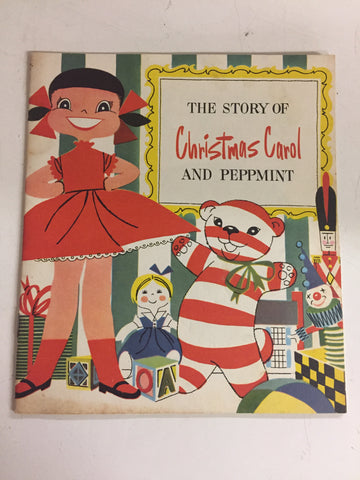 Vintage 1953 The Story Of Christmas Carol And Peppmint Booklet JL Hudson's Co
