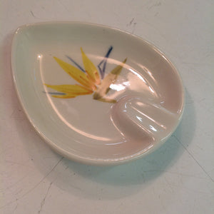 Vintage Winfield Handcrafted China Bird of Paradise Patterned Individual Ashtray