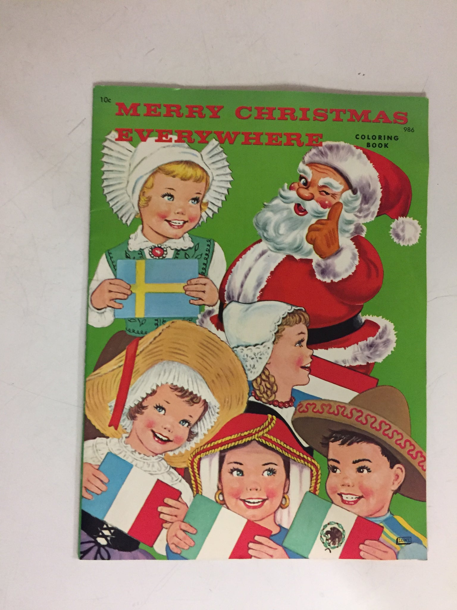 Vintage Merry Christmas Everywhere Coloring Book Holiday