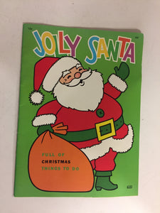 Vintage 1970's Jolly Santa Activity Book Christmas Holiday