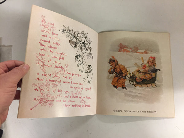 Vintage 1993 The Night Before Christmas Or A Visit Of St. Nicholas Booklet Story