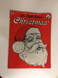 Vintage 1978 Danmar The Night Before Christmas Giant Coloring Book