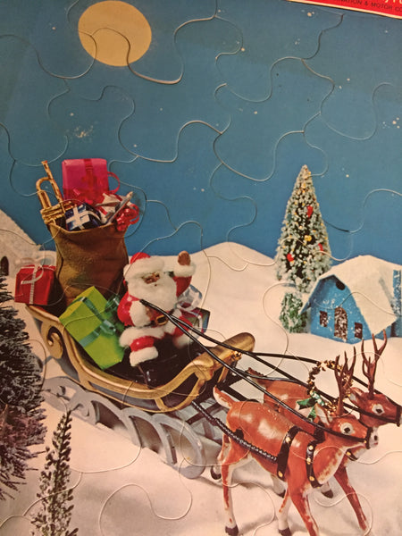 Vintage 1972 Whitman Frame-Tray Puzzle Merry Christmas to All