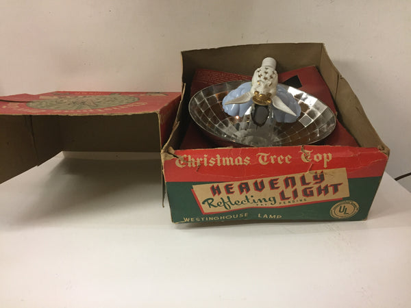 Vintage 1950's Christmas Tree Top Angle Heavenly Reflecting Light Holiday