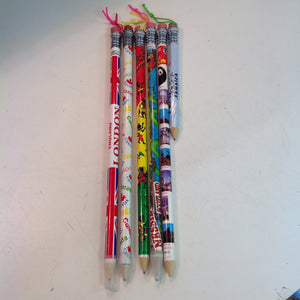 Vintage Assortment of Souvenir Jumbo Pencils International Destinations Set of Six