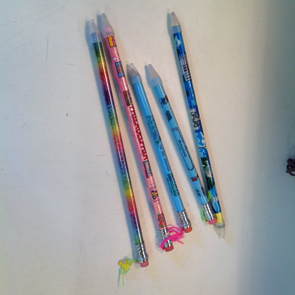 Vintage Assortment Souvenir Jumbo Pencils Washington DC and Parts East Set of Five