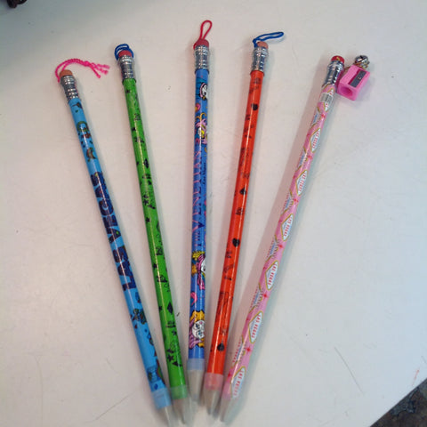 Vintage Assortment Souvenir Jumbo Pencils Fabulous Las Vegas Set of Five