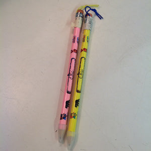 Vintage Souvenir Jumbo Pencils Set of Two Ohio Pink Yellow