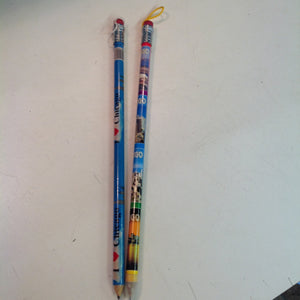 Vintage Set of Two Souvenir Jumbo Pencils Chicago