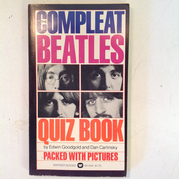 Vintage 1975 Warner Books Compleat Beatles Quiz Mass Market Paperback
