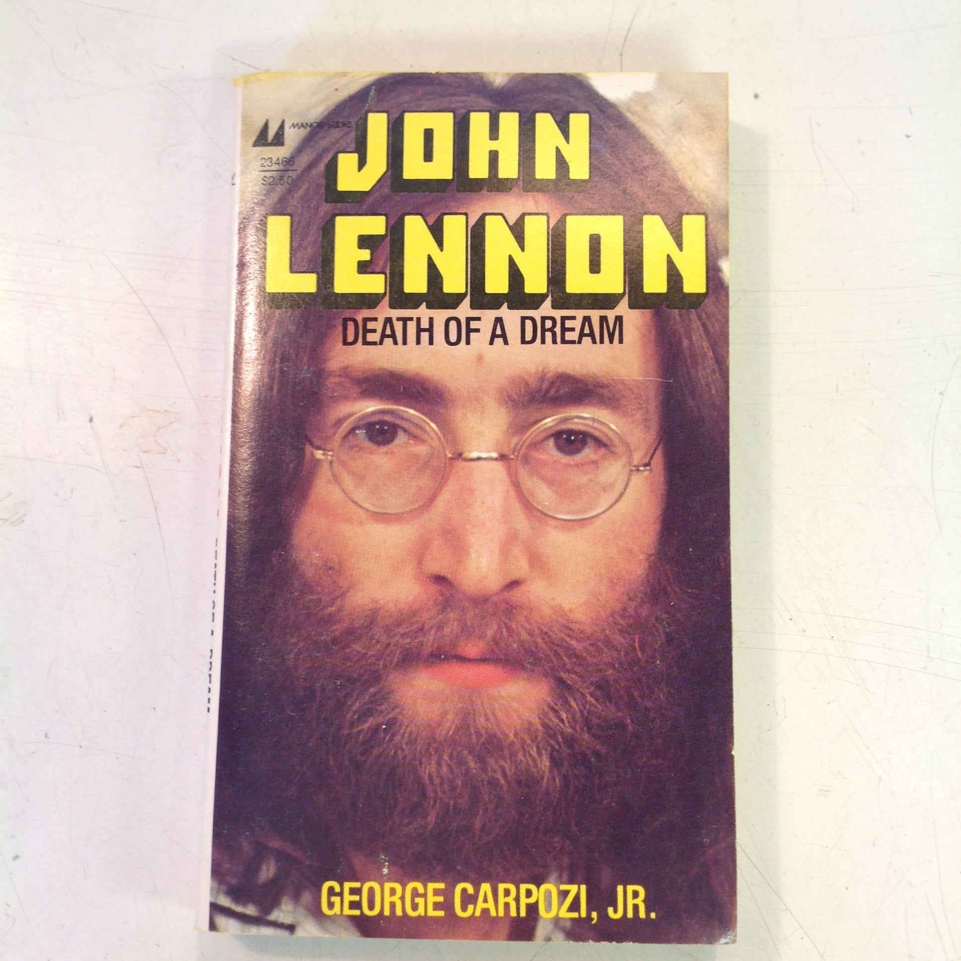 Vintage Manor Books John Lennon Death of a Dream Paperback Book