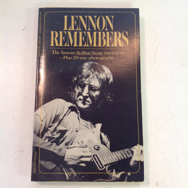 Vintage 1972 Popular Library Lennon Remembers Paperback Book