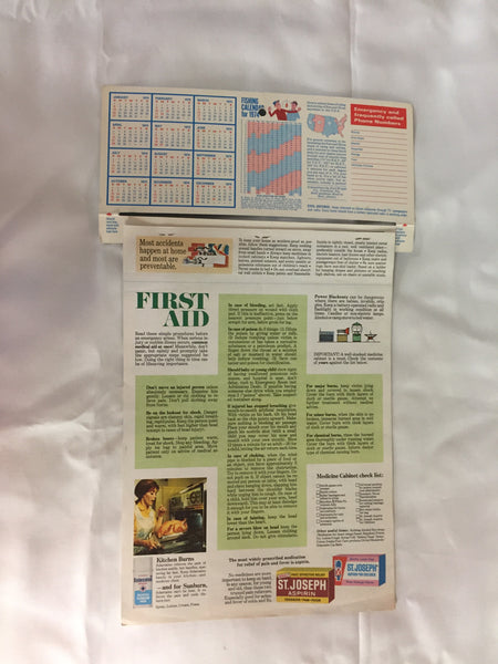 Vintage 1974 Arnold's Discount Drug Store Advertising Calendar Detroit Michigan