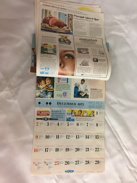 Vintage 1973 Cunningham's 21 Drug Store Advertising Calendar