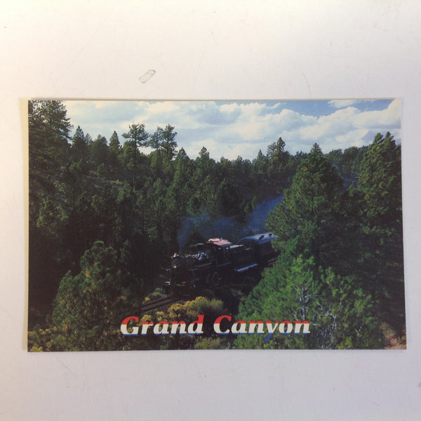 Vintage 1989 Color Postcard Engine #18 Cottonwood Wash Grand Canyon Arizona