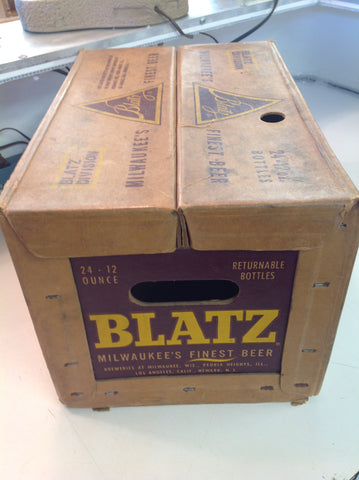 Vintage Blatz Beer 24 12 Oz Bottle Cardboard Beverage Case