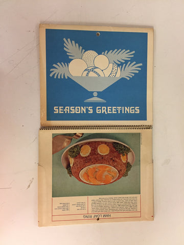 Vintage 1972 NIESTER'S Homemade Sausage Advertising Cooking Calendar Roseville Mi