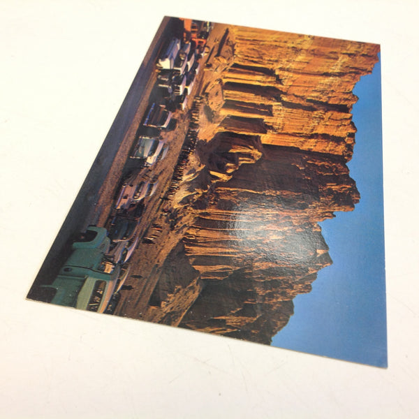 Vintage Plastichrome Color Postcard Easter Sunrise Services Red Rock Canyon Mojave California