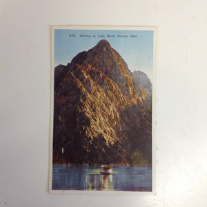 Vintage Carpenter Paper Color Postcard Boating on Lake Mead Boulder Dam Nevada