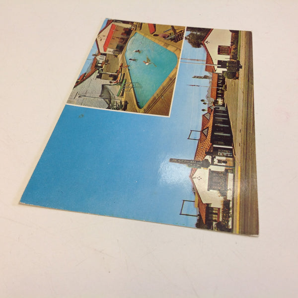 Vintage Ray Manley Commercial Photography Souvenir Color Postcard Deseret Motor Hotel and Apartments Tucson Arizona