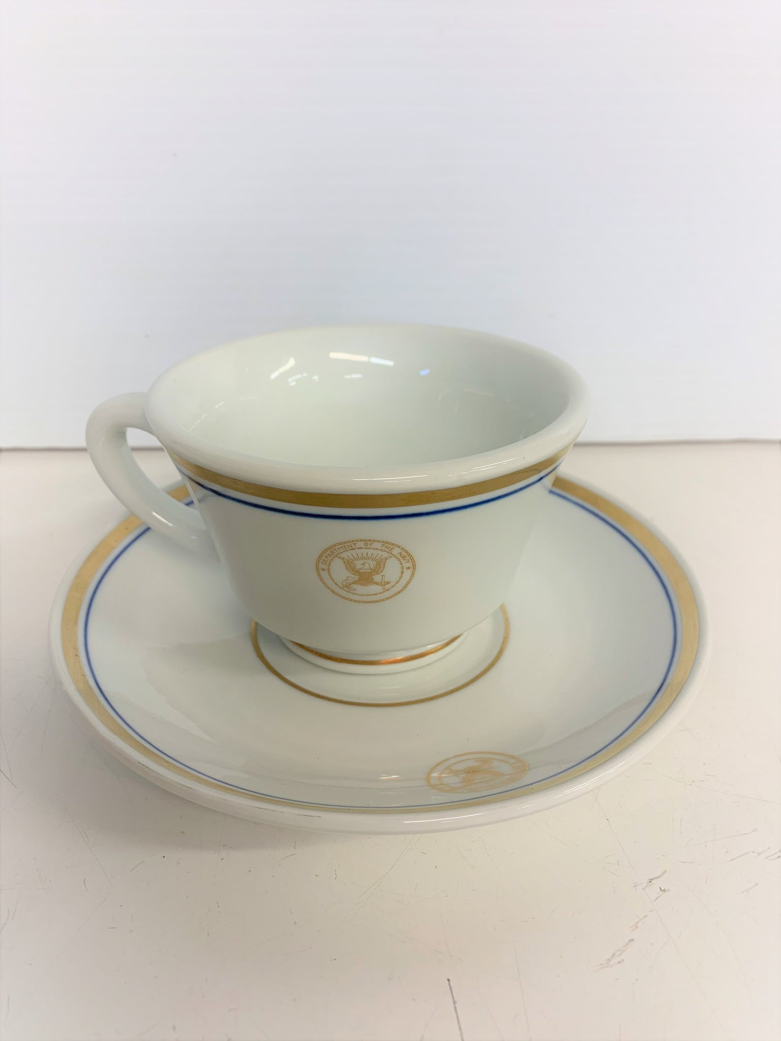 Vintage Department of the Navy Restaurant Ware Coffee Cups Inter-American