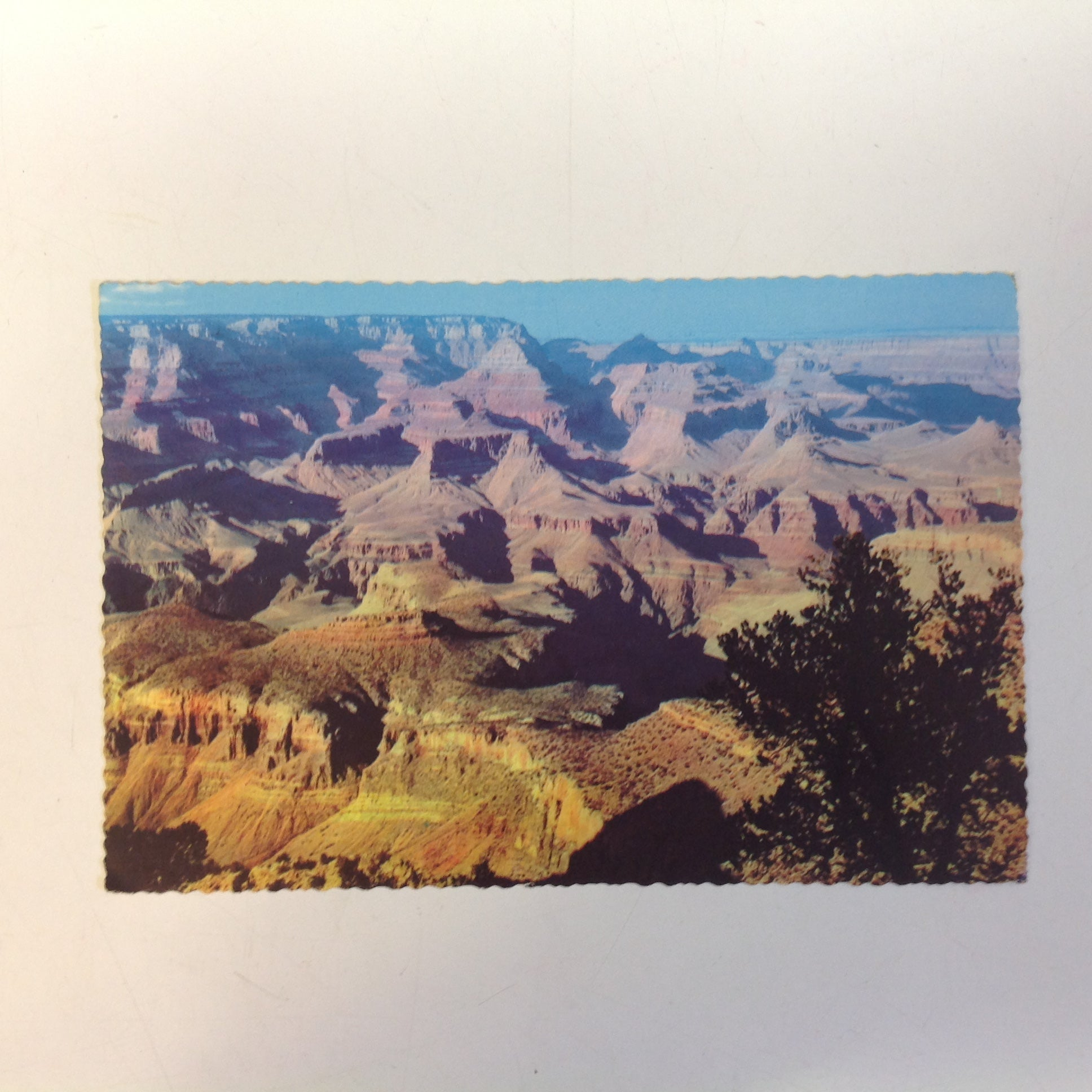 Vintage Petley Ektachrome Bob Fronske Souvenir Color Scalloped Edge Postcard Grand View Point South Rim Grand Canyon National Park North of US 66 Flagstaff-Williams Arizona