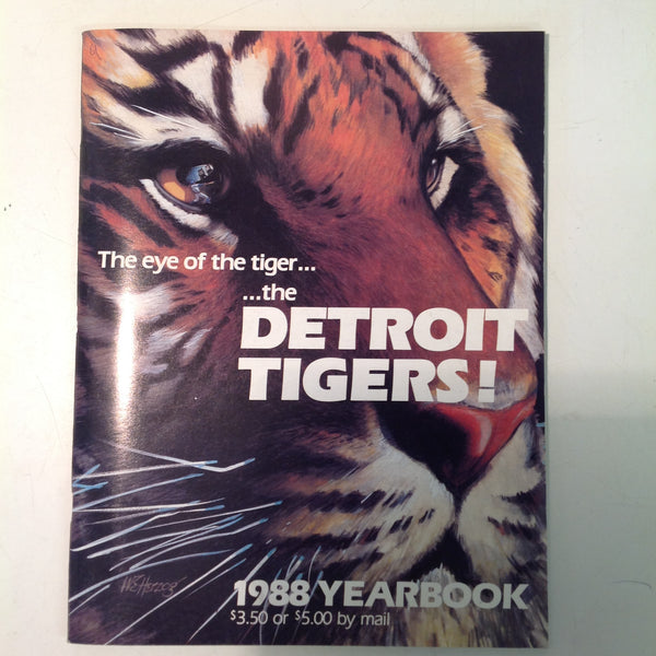 Vintage Official 1988 Detroit Tigers Baseball Yearbook