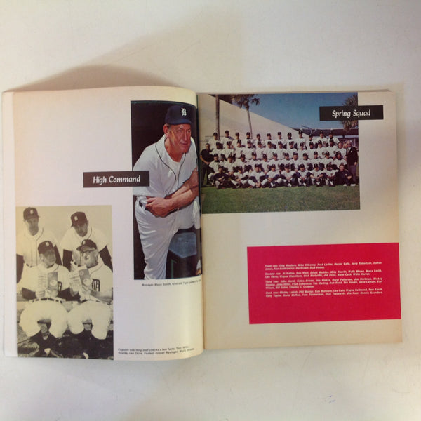 Vintage Official 1970 Detroit Tigers Baseball Yearbook