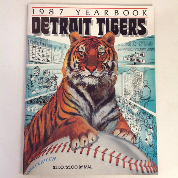 Vintage Official 1987 Detroit Tigers Baseball Yearbook