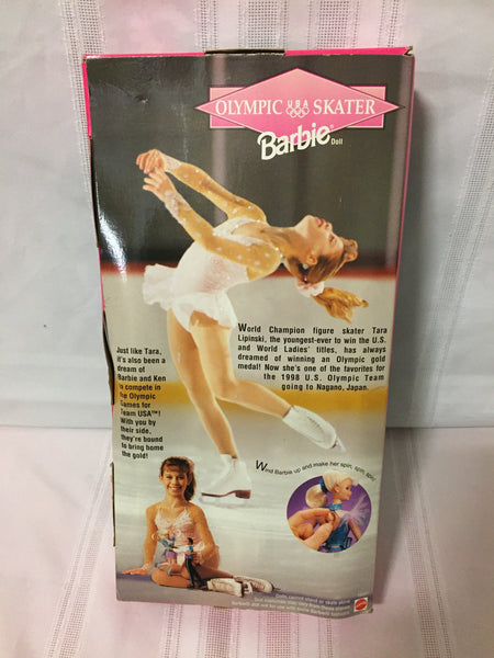 Vintage 1997 Olympic Skater USA Barbie Doll # 18501 NRD Box Mattel