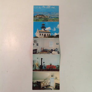Vintage Colourpicture Plastichrome Color Fold Out Postcards Ed Royce Photos Old Point Loma Lighthouse Cabrillo National Monument San Diego California