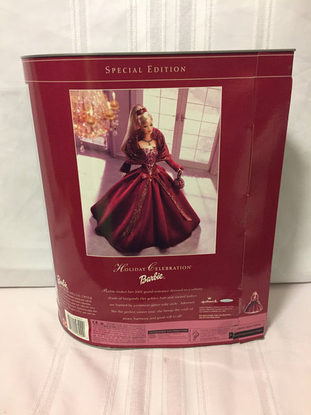 Special Edition 2002 Holiday Celebration Barbie #56209 Hallmark Mattel NRB