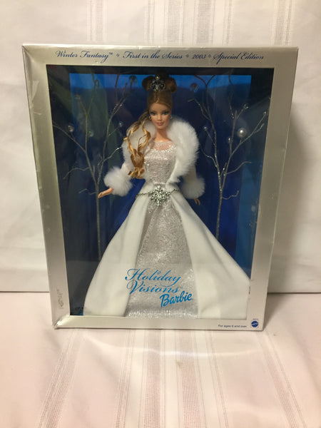 Special Edition 2003 Winter Fantasy Holiday Visions Barbie #82519 Hallmark Mattel NRB