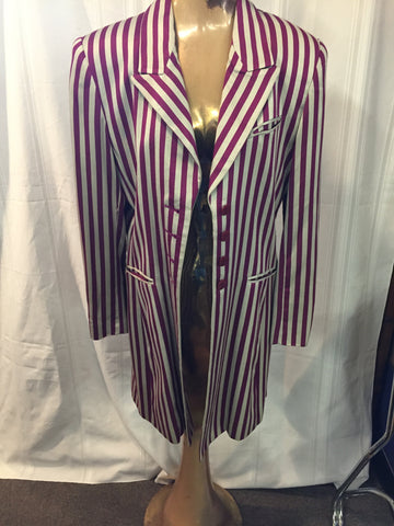 Vintage Ashley Brooke Purple & Silver Striped Stageware Blazer Coat