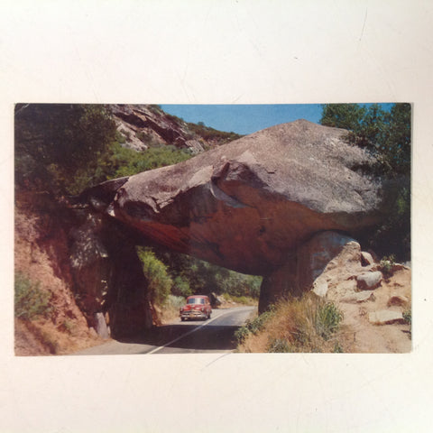 Vintage Mirro-Krome Color Postcard Hubert Lowman Photo Sequoia Kings Canyon Nat'l Parks Co Arch Rock Generals Highway California