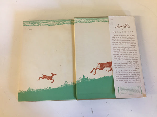 Vintage 1931 BAMBI Hardcover Book W/ Dust Jacket By Felix Salten