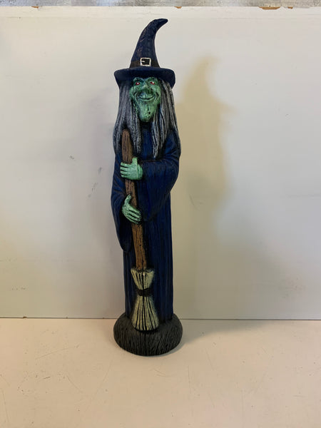 Vintage Home Made Ceramics Witch Figurine Halloween