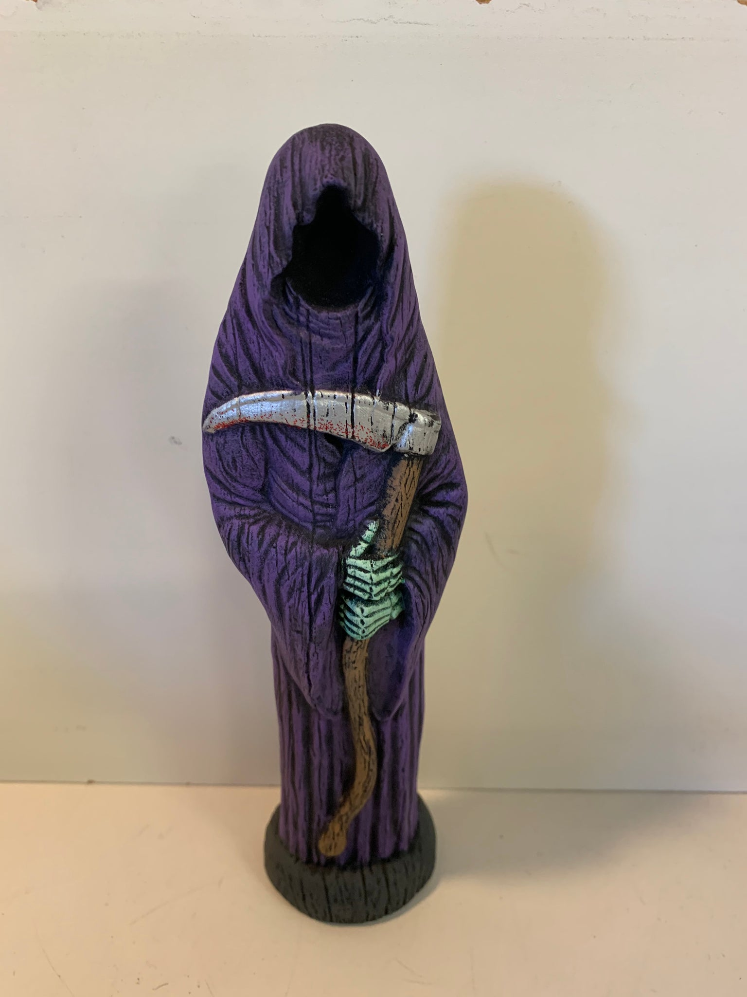 Vintage Home Made Ceramics Death Figurine Halloween