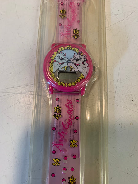 Vintage Walt Disney's The Aristocats Pink Digital Watch NOS Sealed