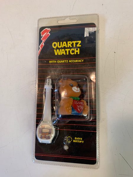 Vintage 1990's Quartz Digital Watch I Love Bear Pencil Sharpener NOS Sealed