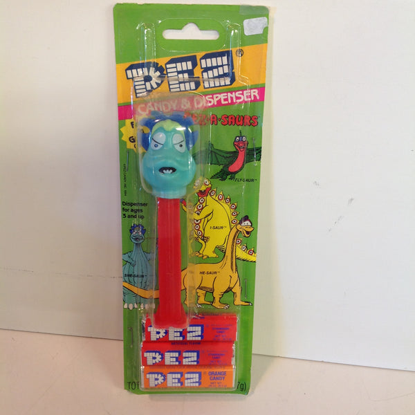 Vintage 1990's Pez Candy Dispenser w/Original Packaging Pez-A-Saurs She-Saur