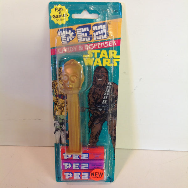 Vintage 1990's Pez Candy Dispenser w/Original Packaging Star Wars C3PO